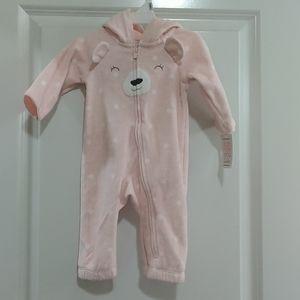 NWT Carter's 1pc fleece outfit